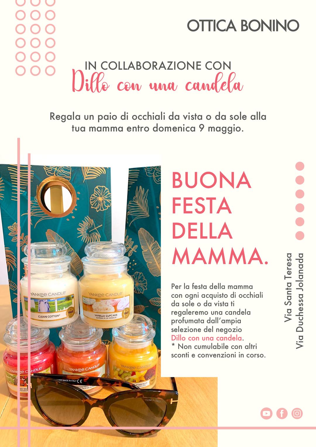 Occhiali per la mamma… e una candela!